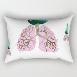 organic lungs Rectangular Pillow