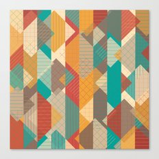 Geometric Geek Pattern - Squares, Stripes, Grids Canvas Print