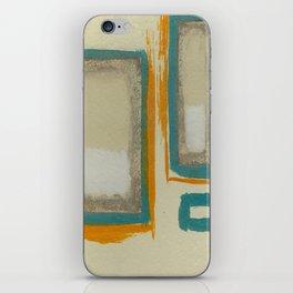 Soft And Bold Rothko Inspired - Corbin Henry Modern Art - Teal Blue Orange Beige iPhone Skin