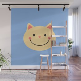 Happy cat face Wall Mural