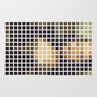 mona lisa Area & Throw Rugs featuring Mona Lisa by Alisa Galitsyna