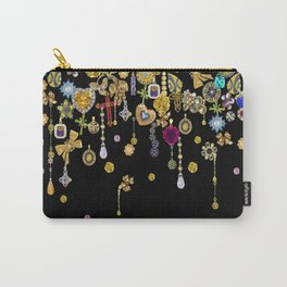 Diamond and gold hearts for a glamorous Hollywood bohemian girl. Carry-All Pouch