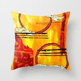 Music of Orbs Throw Pillow