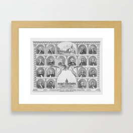 Presidents Of The United States 1776 - 1876 Framed Art Print