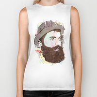 hipster Biker Tanks featuring Hipster by jnk2007