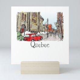 Quebec Canada cityscape lanscape wanderlust world Mini Art Print