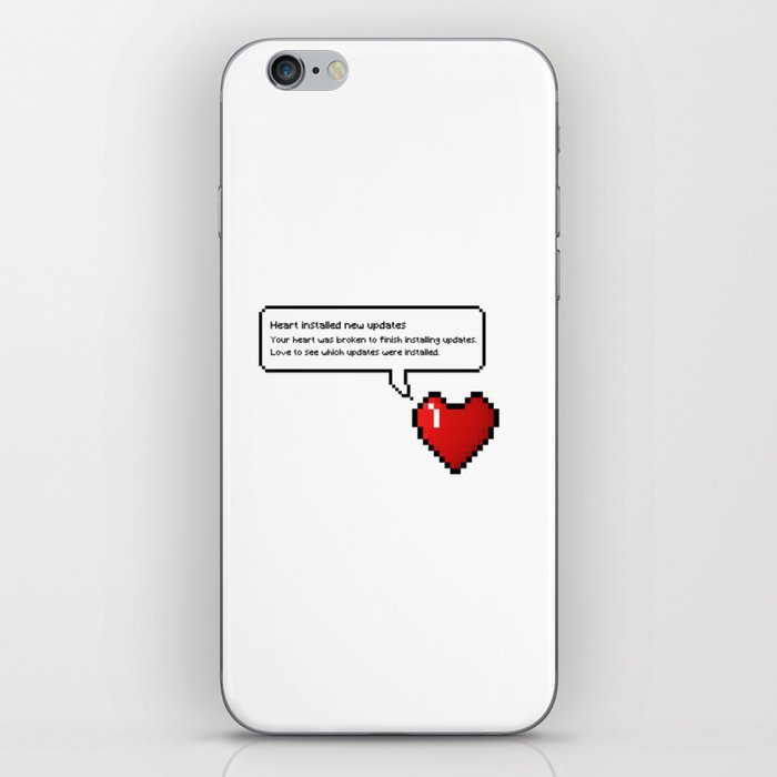 7d6eca6684 8 Bit Pixel Speech Bubble Heart iPhone Skin by kalid796   Society6