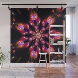 Purple Fire Snowflake Wall Mural