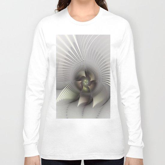 Stand Up, Abstract Fractal Art Long Sleeve T-shirt