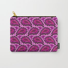Dark pink paisley seamless pattern. Carry-All Pouch