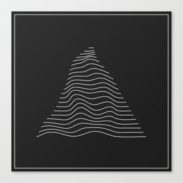 Minimal Triangle Warp Canvas Print