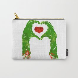 zombie hand making heart Carry-All Pouch
