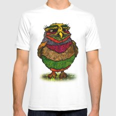Owly Mens Fitted Tee White MEDIUM