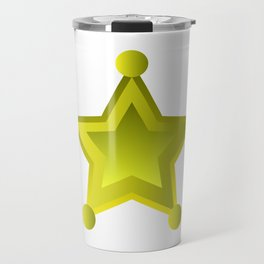 sheriff star Travel Mug