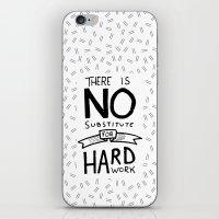 work hard iPhone & iPod Skins featuring Hard Work by Sean Coady