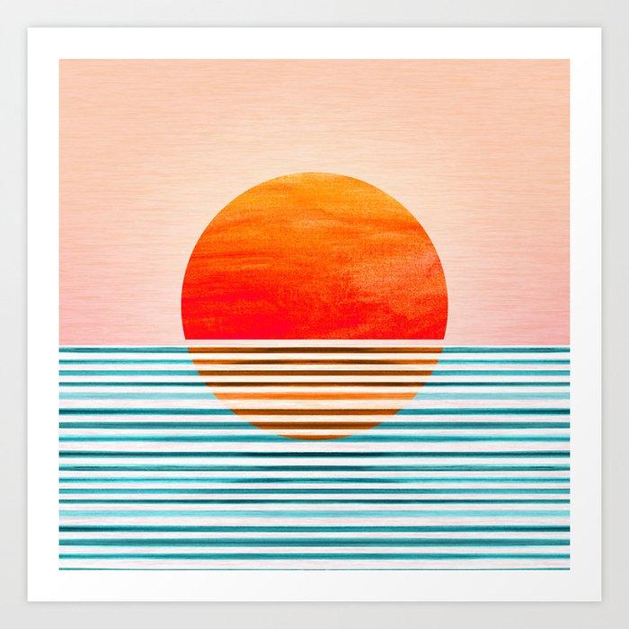 Minimalist Sunset III / Abstract Landscape Art Print