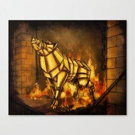 The Golden Boar Canvas Print