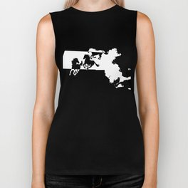 Massachussetts Morgan Figure Horse Lover White Biker Tank