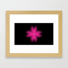 Solar Flower Fractal. Framed Art Print