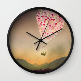 NEVER STOP EXPLORING V (THE MOUNTAINS) Wall Clock