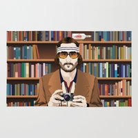 tenenbaum Area & Throw Rugs featuring Richie Tenenbaum by The Art Warriors