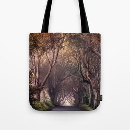 Autumn alley in Northern Ireland Tote Bag