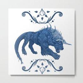 Behemoth Final Fantasy Metal Print