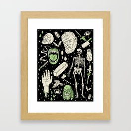 Whole Lotta Horror: BLK ed. Framed Art Print