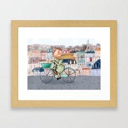 Mathias the french cat Framed Art Print