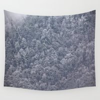 chill Wall Tapestries featuring Winter's Chill by JMcCool