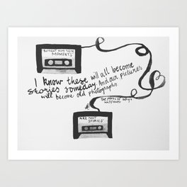 """Quote from The Perks Of Being A Wallflower """"I know these will all become..."""" Art Print"""