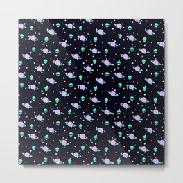 Space Kei Pattern Metal Print