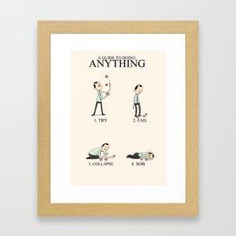 Inspirational Words Framed Art Print