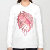 girl power Long Sleeve T-shirts featuring girl power by Ginseng&Honey