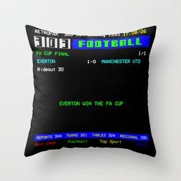 1995 FA Cup Final Everton 1 Man Utd 0 Throw Pillow