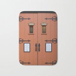 Orange Church Doors Bath Mat