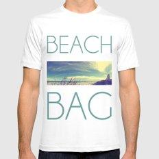 Panoramic Beach Shot Mens Fitted Tee White MEDIUM