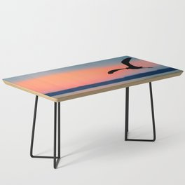 Seagull Sunset Abstract Coffee Table