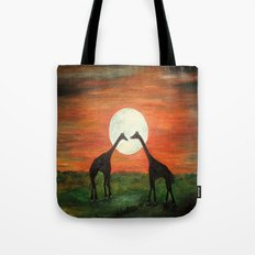 Full Moon Giraffe Love-Inspired by TaLins!!! Tote Bag