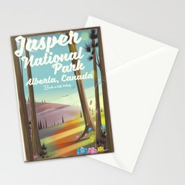 Jasper National park, Canada travel poster Stationery Cards