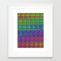squirtle Framed Art Prints featuring Squirtle Spectrum by pkarnold + The Cult Print Shop