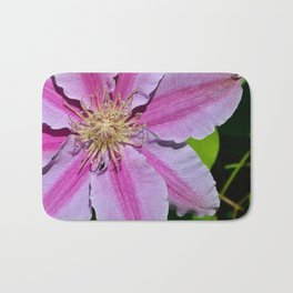 Pink Clematis by Teresa Thompson Bath Mat