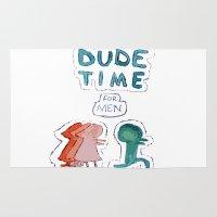 regular show Area & Throw Rugs featuring Dude Time - From the Regular Show  by Renatta Maniski-Luke