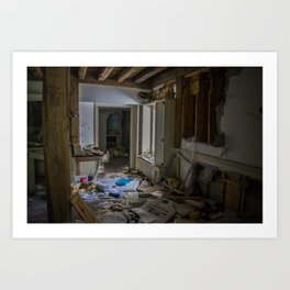 Abandoned Living Room Art Print