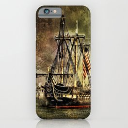 Tall ship USS Constitution iPhone Case