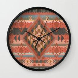 Boho Graphic Moroccan Oriental Modern Pattern Art Design - 2 Wall Clock