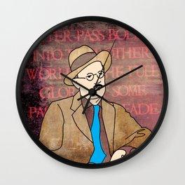 JAMES JOYCE ILLUSTRATION Wall Clock