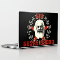 marx Laptop & iPad Skins featuring Big Bushy Beard by PsychoBudgie