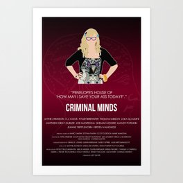 Criminal Minds - Garcia Art Print