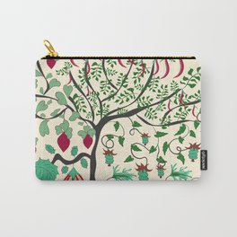 Fairy seamless pattern garden with plants, tree and flowers Carry-All Pouch